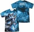 Justice League mens full sublimation t-shirt Atmospheric