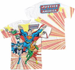 Justice League mens full sublimation t-shirt Coming At You