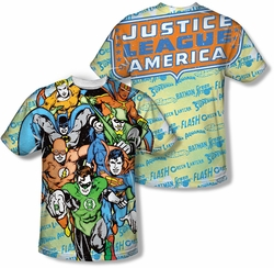 Justice League mens full sublimation t-shirt Follow The Leader