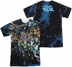 Justice League mens full sublimation t-shirt Forever Evil
