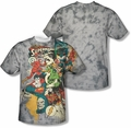 Justice League mens full sublimation t-shirt Friends Or Foes