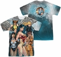 Justice League mens full sublimation t-shirt Gals Night Out