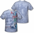 Justice League mens full sublimation t-shirt Good Guys