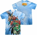 Justice League mens full sublimation t-shirt Heroes Unite