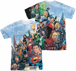 Justice League mens full sublimation t-shirt JLA