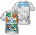 Justice League mens full sublimation t-shirt Justice Panels