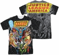 Justice League mens full sublimation t-shirt Stars
