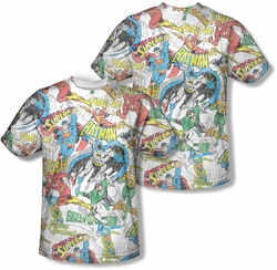 Justice League mens full sublimation t-shirt Super Collage