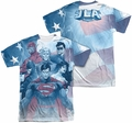 Justice League mens full sublimation t-shirt United