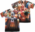 Justice League mens full sublimation t-shirt Wall Of Heroes