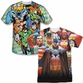 Justice League mens sublimation t-shirts