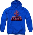 Justice League of America youth teen hoodie 8 Bit Jla royal blue