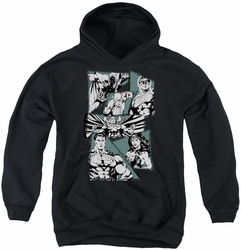 Justice League of America youth teen hoodie A Mighty League black