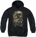Justice League of America youth teen hoodie Aftermath black