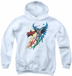 Justice League of America youth teen hoodie Allegiance white