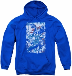 Justice League of America youth teen hoodie American Justice royal blue