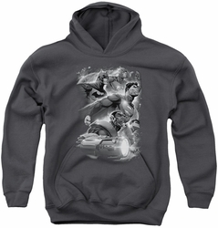 Justice League of America youth teen hoodie Atmospheric charcoal