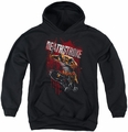 Justice League of America youth teen hoodie Blood Splattered black