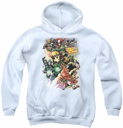 Justice League of America youth teen hoodie Brightest Day #0 white