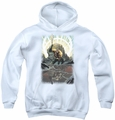 Justice League of America youth teen hoodie Brightest Day Aquaman white