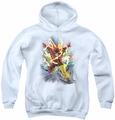 Justice League of America youth teen hoodie Brightest Day Flash white