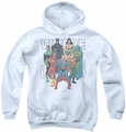 Justice League of America youth teen hoodie Classified #1 Cover white