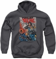 Justice League of America youth teen hoodie Crime Syndicate charcoal