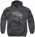 Justice League of America youth teen hoodie Deathstroke Retro charcoal