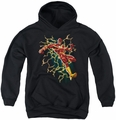 Justice League of America youth teen hoodie Electric Death black