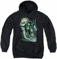 Justice League of America youth teen hoodie Emerald Energy black
