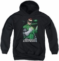 Justice League of America youth teen hoodie Fist Flare black
