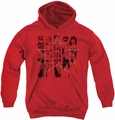 Justice League of America youth teen hoodie Five Stars red