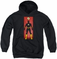 Justice League of America youth teen hoodie Flash Block black