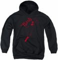 Justice League of America youth teen hoodie Flash Darkness black