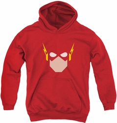 Justice League of America youth teen hoodie Flash Head red