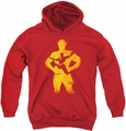Justice League of America youth teen hoodie Flash Knockout red