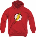Justice League of America youth teen hoodie Flash Logo red