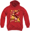 Justice League of America youth teen hoodie Flash red