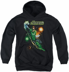 Justice League of America youth teen hoodie Galactic Guardian black