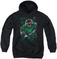 Justice League of America youth teen hoodie Green Lantern #1 Distress black