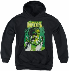 Justice League of America youth teen hoodie Green Lantern #49 Cover black