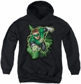 Justice League of America youth teen hoodie Green Lantern Energy black