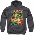 Justice League of America youth teen hoodie Hero Boxes charcoal