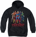 Justice League of America youth teen hoodie In League black