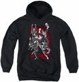 Justice League of America youth teen hoodie Jla Explosion black