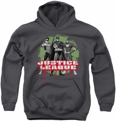 Justice League of America youth teen hoodie Jla Trio charcoal