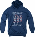 Justice League of America youth teen hoodie Justice For America navy