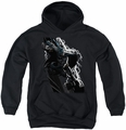 Justice League of America youth teen hoodie Lighting Crashes black