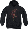 Justice League of America youth teen hoodie Neon Flash black