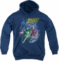 Justice League of America youth teen hoodie Onward navy